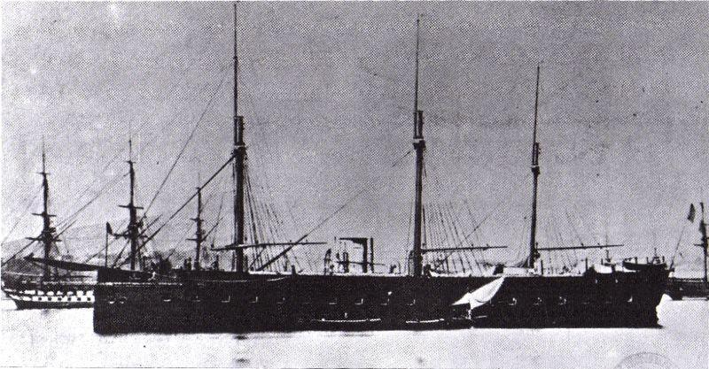 لی ناپلون اولین نبرد ناو مجهز شده به پیشرانه بخار اب در جهان در سال 1850