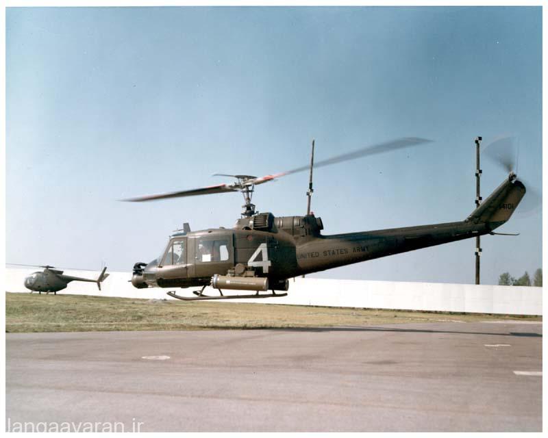 UH-1C (بل204) ملقب به كشتي جنگي . برخی از این نمونه توان پرتاب موشک ضد تانک ای اس 11 را داشتند