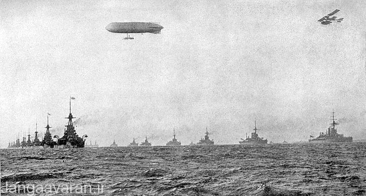 صف ارایی نبرد ناوهای انگلیسی در اغاز جنگ جهانی اول در سال 1914