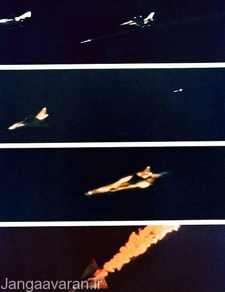 تست امرام ، شلیک از اف16 و نابودی از اف106