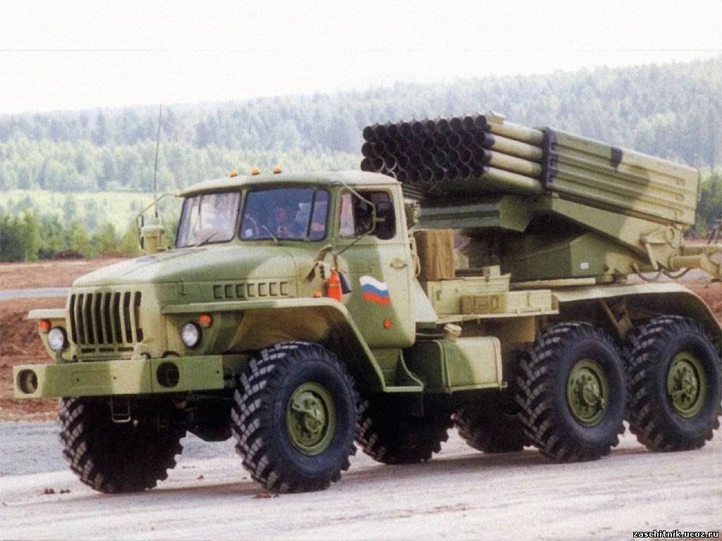 لانچر راکت روی کامیون Ural-375D