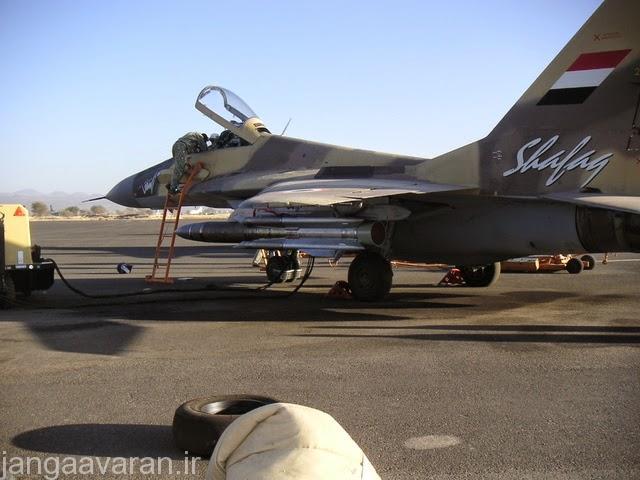 تصویری از میگ29 اس ام تی یمنی و موشک ضد رادار ها 31