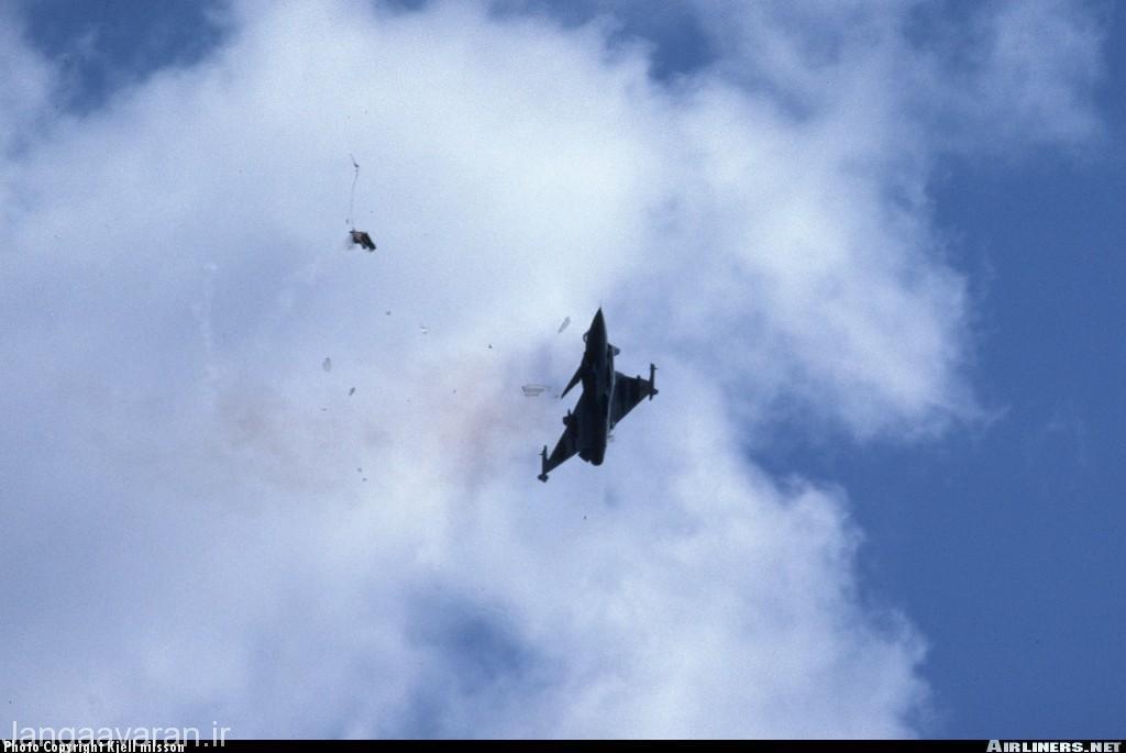 صحنه سقوط یکی از گرپینها درسال 1993