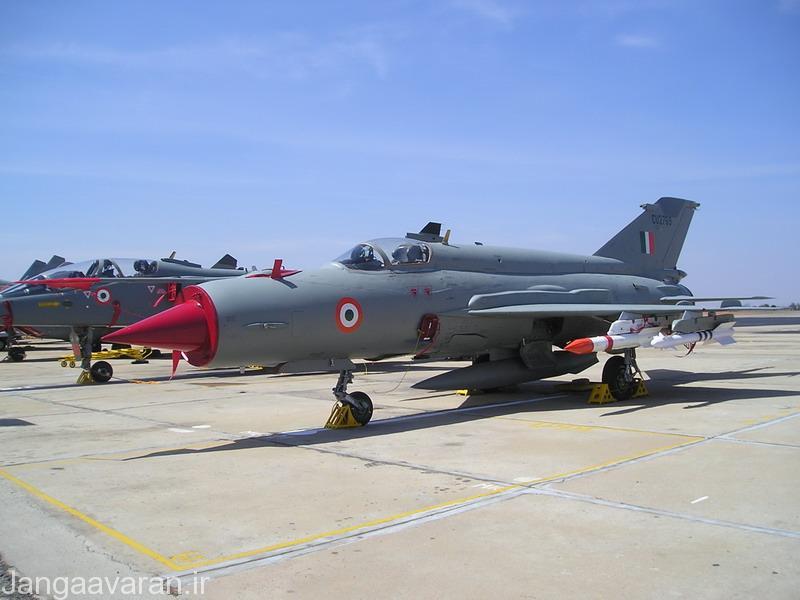 -میگ21 ارتقاء یافته هندی مسلح به موشک ار77 و ار73