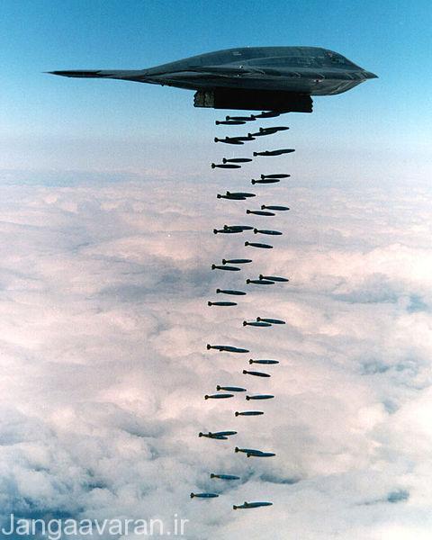 اولین تست پرتاب 82 بمب مارک 82 از ب2 در سال 1994