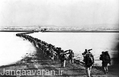 رد شدن نیروی های چینی از رودخانه یالو. رد شدن میلیونها سرباز چینی باعث دومین عقب نشینی امریکا در جنگ شد