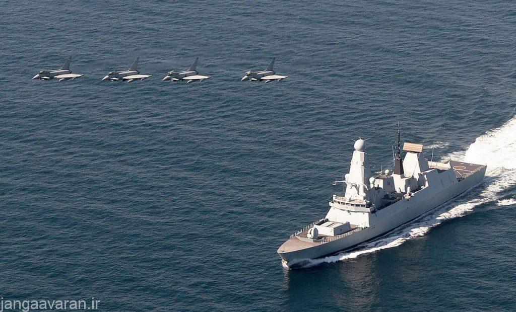 HMS-Defender-Eurofighter-Typhoons-Train-off-UK