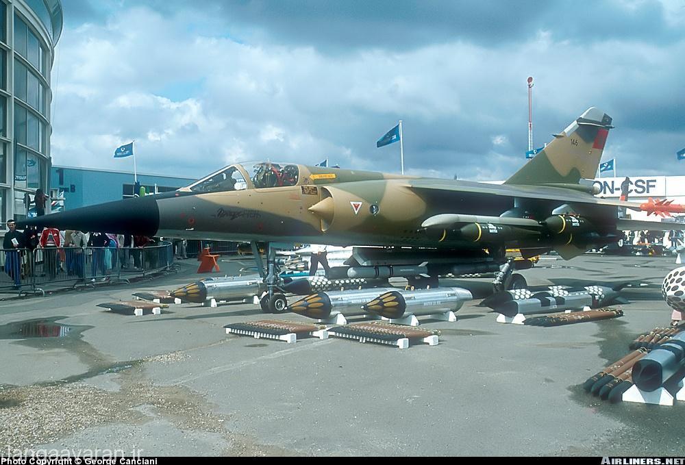 میراژ اف1 سی ایی ارتش اسپانیا . این نمونه بعدها با ارتقا رادار از یک شکاری به یک جنگنده چند منظوره تبدیل شد