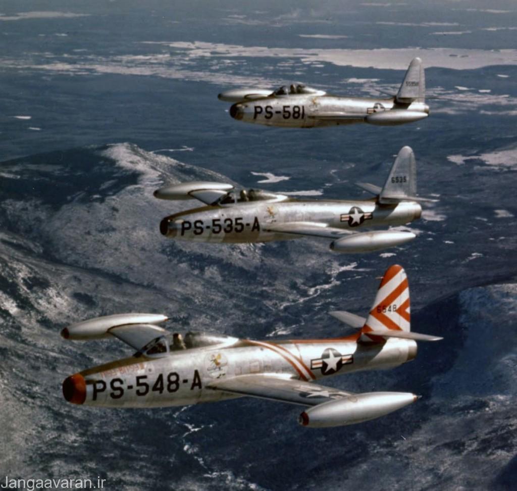 اف84 اولین هواپیمایی جتی بود که به صورت فراگیر به خدمت ناتو در اروپا در امد. اف84 به سرعت تنها سه سال بعد از ورود به خدمت در اروپا در نقش شکاری با اف86 جایگزین شد ولی همچنان یک جنگنده تهاجمی خوب باقی ماند.