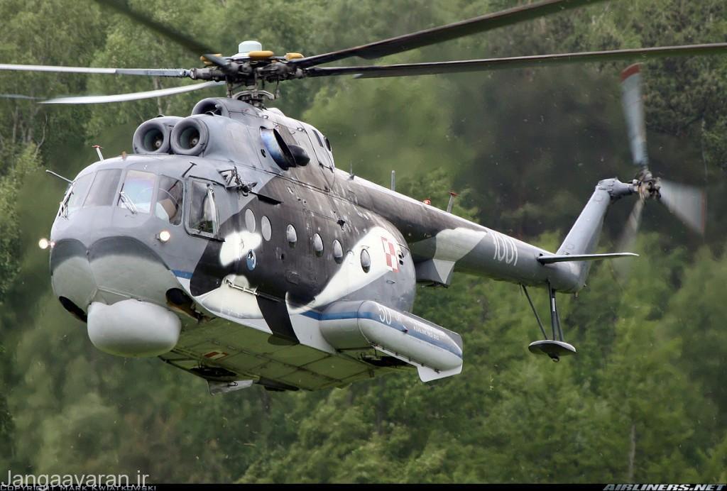 میل14 پی ال نیروی دریایی لهستان. در زیر دماغه رادار جستجو مشخص است