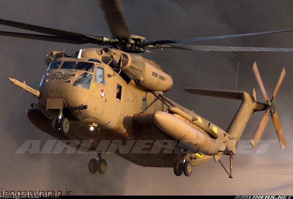 سی اچ 53 ای ارتش اسرائیل . این نمونه در اسرائیل بهسازی شده است