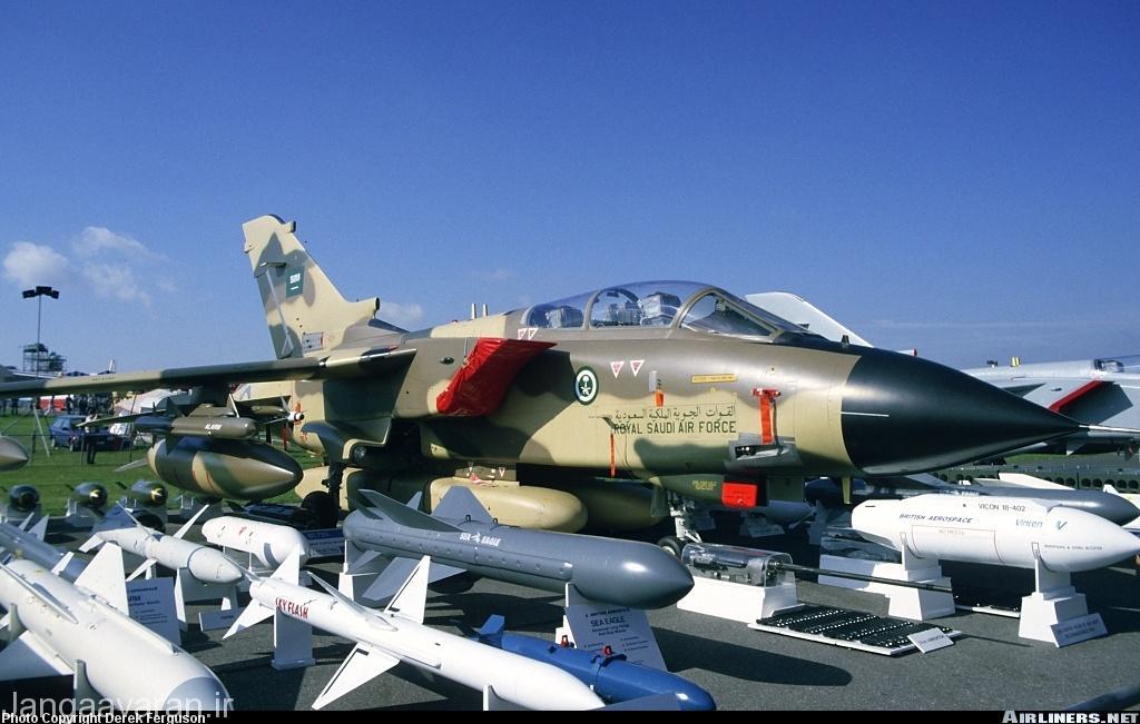تصویری از تورنادوی جی ار1 نیروی هوایی عربستان در دهه 1980 در نمایشگاه هوایی در انگلستان
