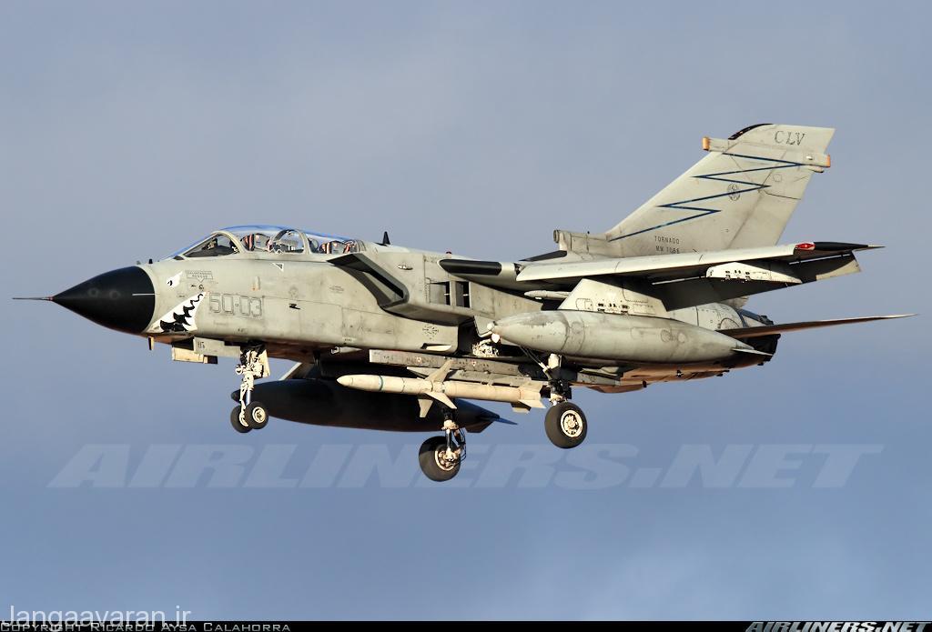 تورنادو ای سی ار نیروی هوایی المان مسلح به موشک هارم برای سرکوب پدافند هوایی