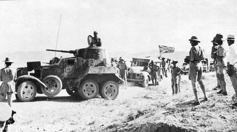 کاروان ارتش بریتانیا در ایران همراه با اسکورت زره پوش BA-10 ارتش سرخ شوروی در سپتامبر 1941 (شهریور 1320)