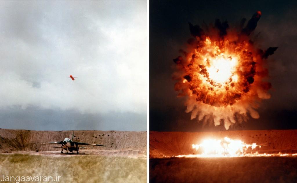 انفجار کلاهک تاماهاک بر فراز هدف