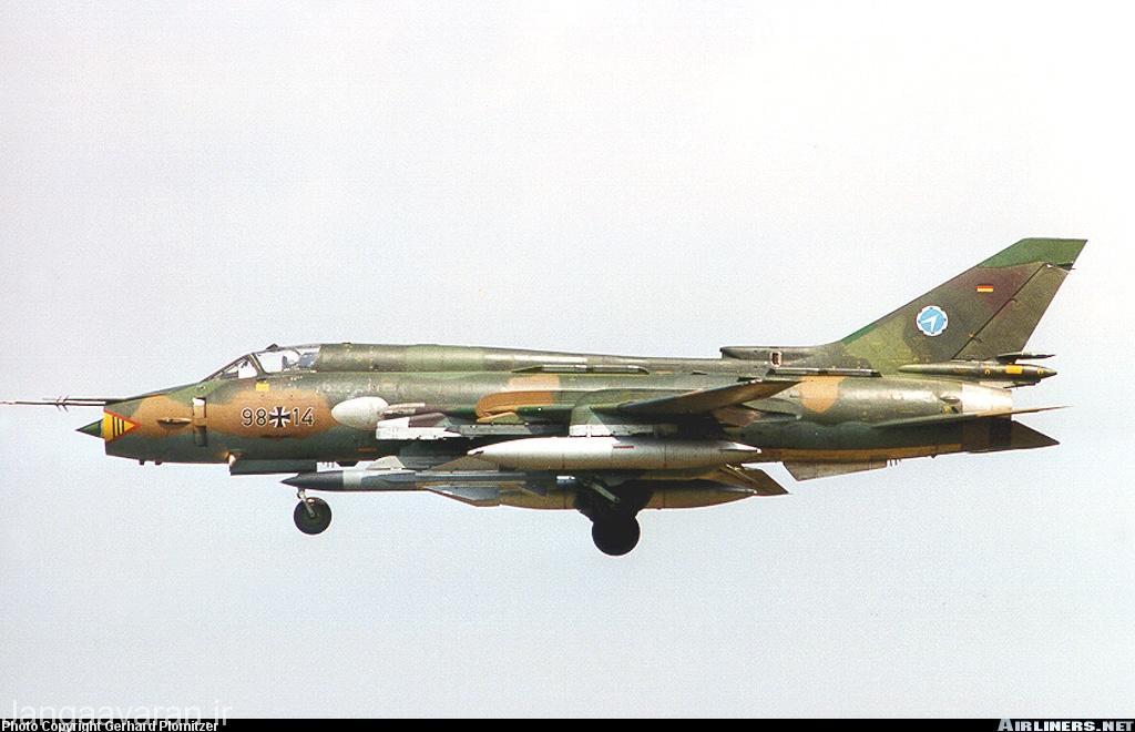 موشک ضد رادار خا 58 زیر بال سوخوی22 ام 4 ارتش المان (قبل از خروج از خدمت)