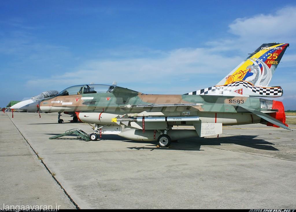 اف16 ای نیروی هوایی ونزوئلا مسلح به موشک پینتون 4 اسرائیلی