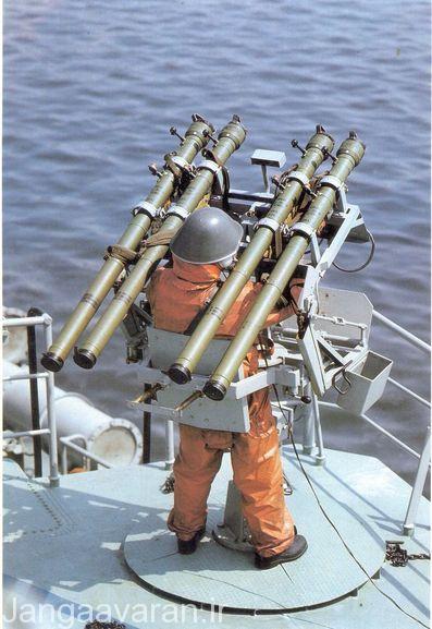 اس ای - ان-5 نسخه دریایی سام 7 دارای لانچر پرتاب چند تایی