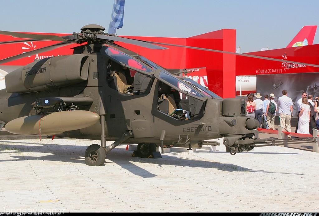ای 129 سی بی تی ارتقاء بر روی بالگرد ای 129 ای ارتش ایتالیا