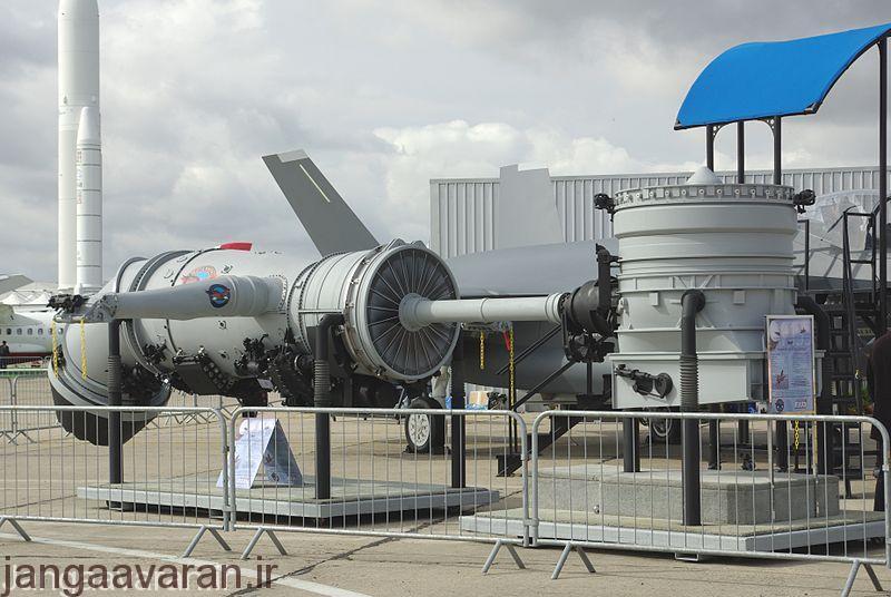 موتور اف135 جنگنده اف35 . این نمونه نسخه طراحی شده برای اف35 بی با فن عمود پرواز است