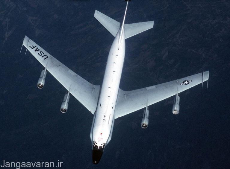 یک هواپیمای KC-135V آمریکا که نقش مهمی در قطع ارتباطات عراق داشت.