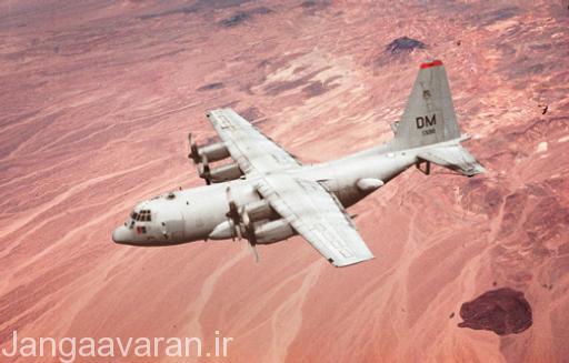 یک هواپیمای EC-130 آمریکایی. این نسخه از این هواپیما مجهز به تجهیزات جنگ الکترونیک است.