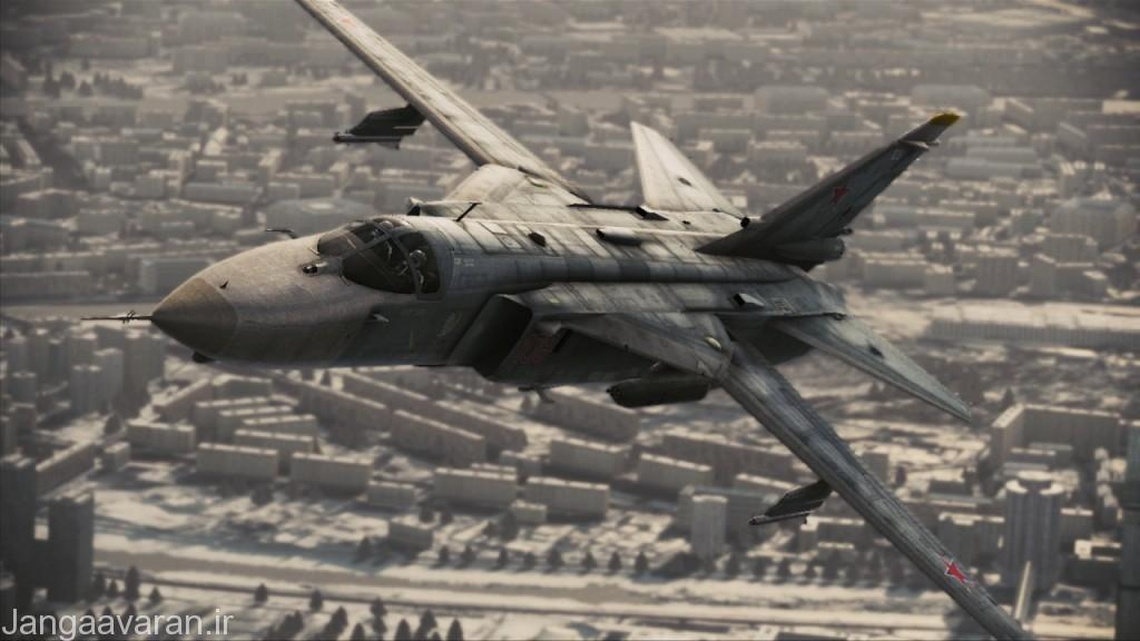 تصویری از یک جنگنده سوخو-24 (E) نسخه جنگ الکترونیک