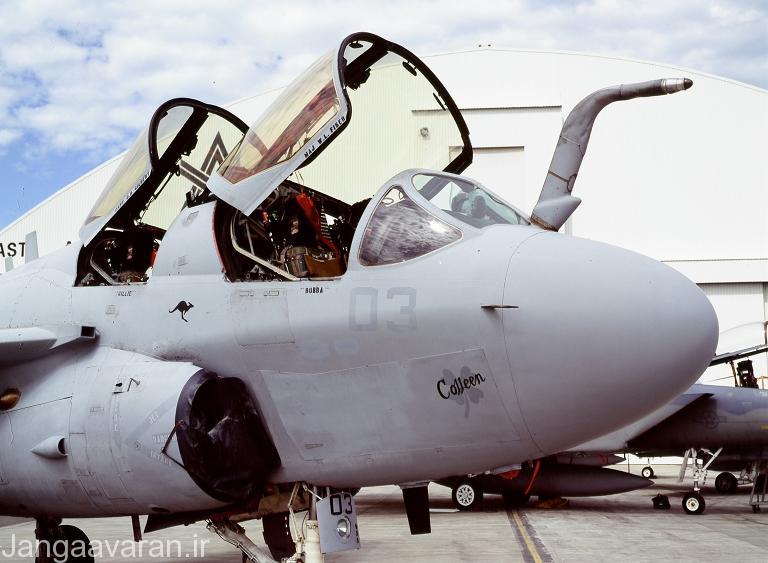 یک فروند هواپیمای اخلال الکترونیک EA-6B که بروزرسانی Icap 2 بر روی آن صورت گرفته است
