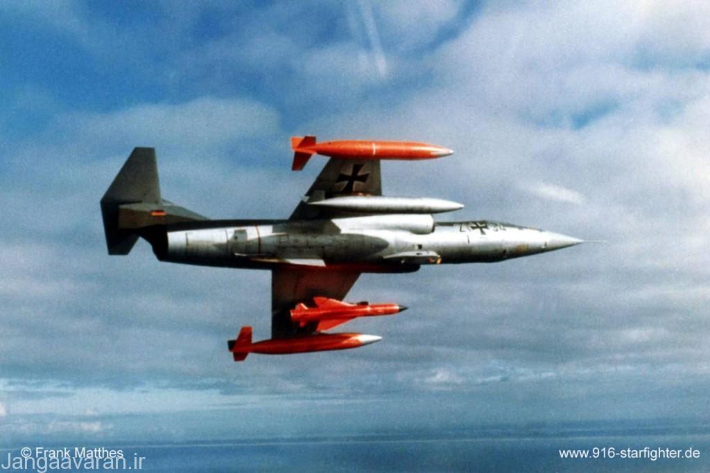 اف104 جی نیروی دریایی المان مجهز به موشک ضد کشتی کورموران