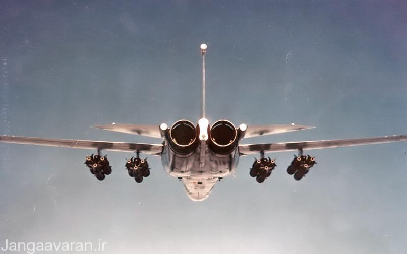 لود متداول برای اف111 در بمب باران های سنگین 24 بمب مارک 82 و یا در برد بلند 12 بمب و دو مخزن سوخت بود