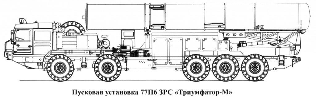 طرحی ذهنی از سامانه حامل موشک اس-500