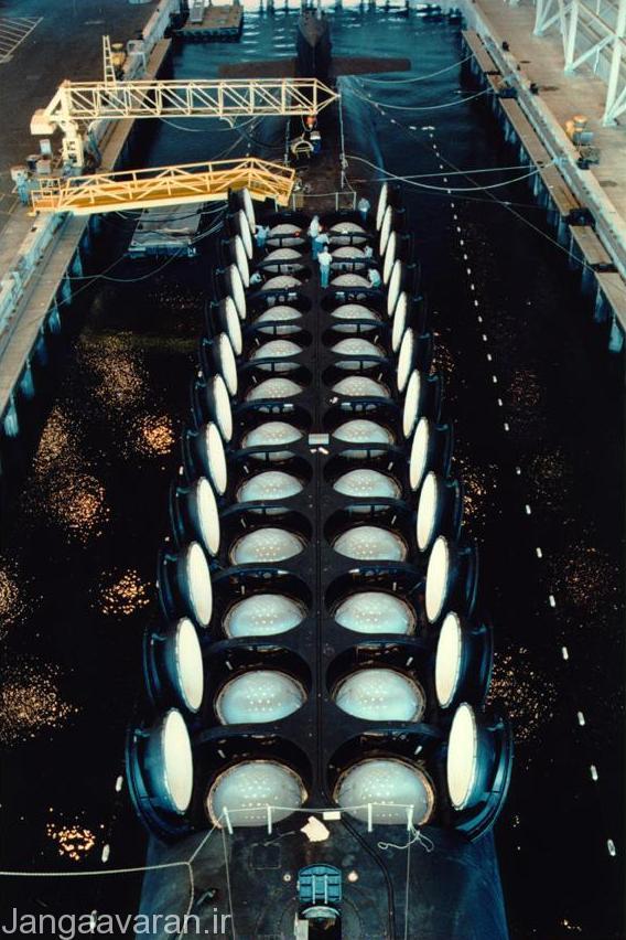 سیلوی پرتاب موشک ترایدنت 2 زیر دریایی اوهایو