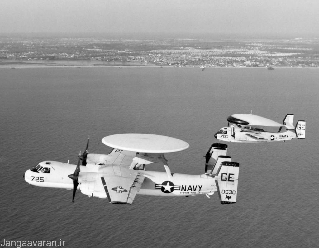 ایی-1 (هواپیمای عقبی) و ایی-2 ای (هواپیمای جلویی)