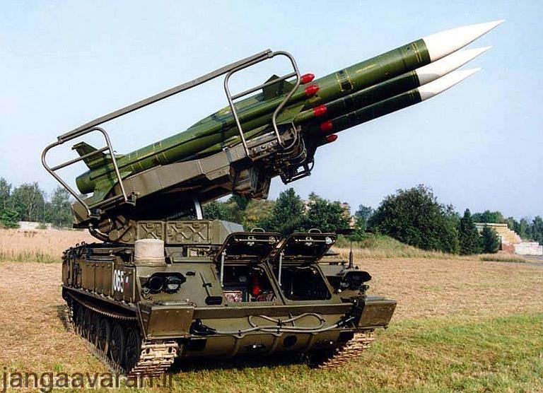 لانچر موشک شامل 3 موشک 3 ام9
