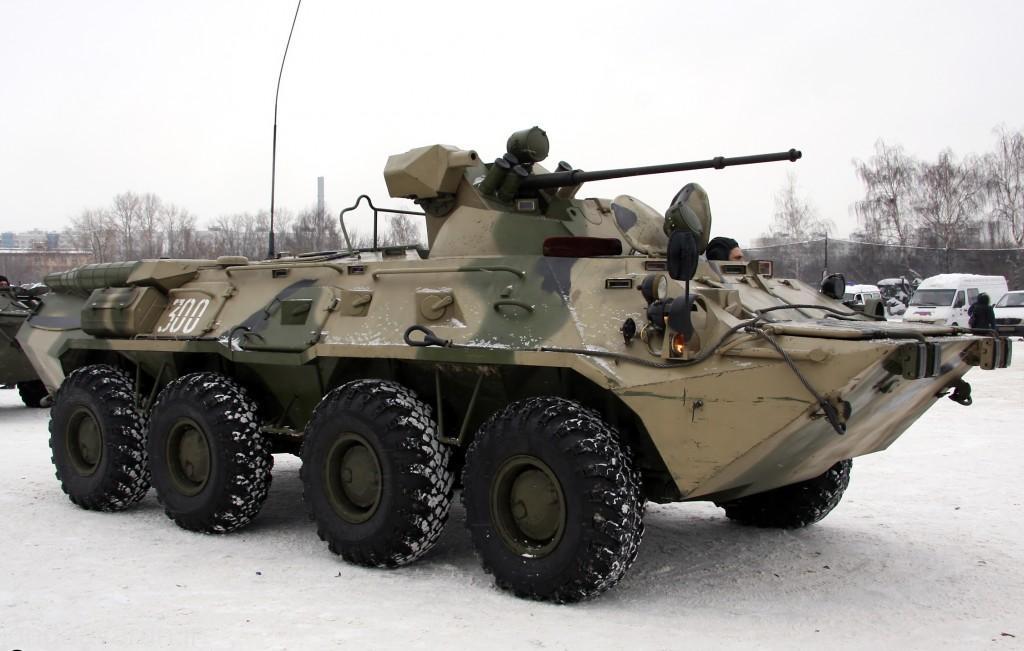 BTR-80A مجهز به برجک با توپ 30 م م