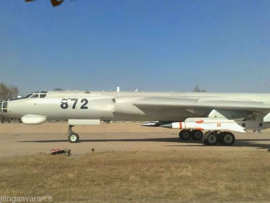 اچ 6 جی مسلح به موشک مافوق صوت ضد کشتی وای جی 12 با سرغت بیش از 4.5 ماخ