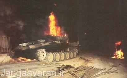 تصویر یک مرکاوا مارک1 از دست رفته در جنگ سال 1982
