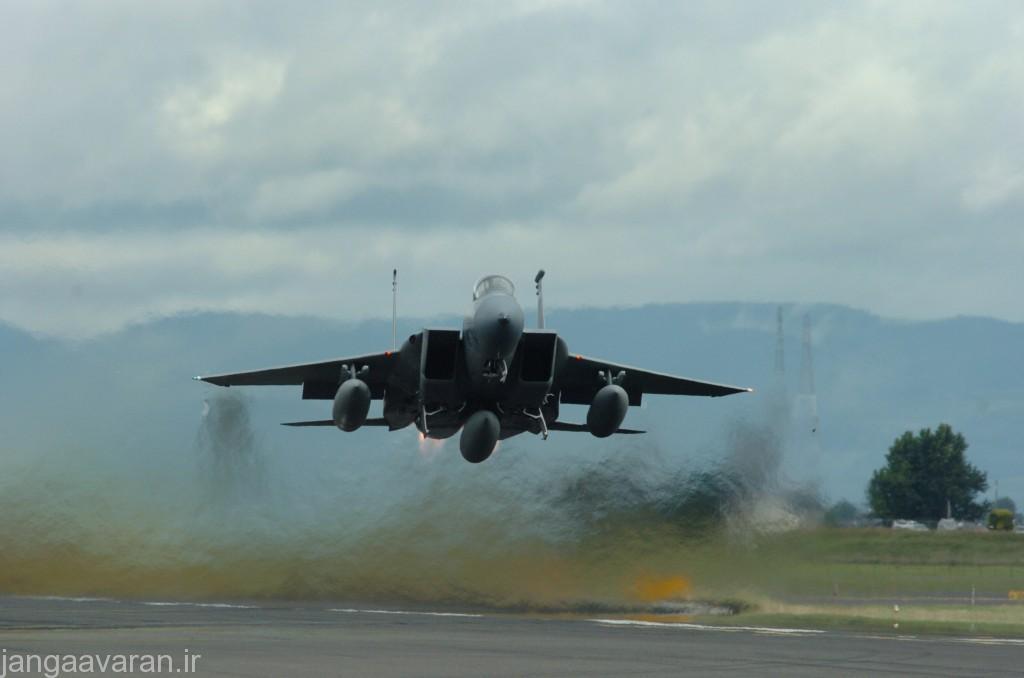 یک فروند جنگنده اف-15 متعلق به نیروی هوایی ایالت متحده