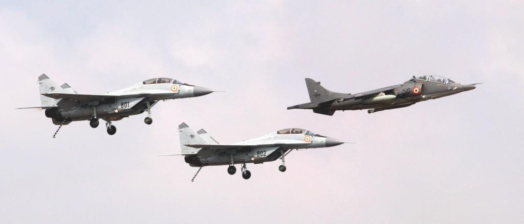 میگ29 کا و هارییر نیروی هوایی هند. در هند میگ29 کا جایگزین ناو هواپیمابر شد