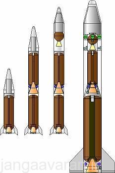 تصویری از جریکا 1(کوچکیترین موشک)جریکا 2 ، ماهواره بر شایوت و جریکا3