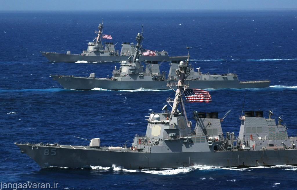061806-N-8492C-066 Pacific Ocean (June 18, 2006) - Three Arleigh Burke-class guided-missile destroyers, the USS McCampbell (DDG 85), USS Lassen (DDG 82) and USS Shoup (DDG 86) steam in formation during a photo exercise (PHOTOEX) for Valiant Shield 2006. Valiant Shield focuses on integrated joint training among U.S. military forces, enabling real-world proficiency in sustaining joint forces and in detecting, locating, tracking and engaging units at sea, in the air, on land and cyberspace in response to a range of mission areas. U.S. Navy photo by Chief PhotographerÕs Mate Todd P. Cichonowicz (RELEASED)