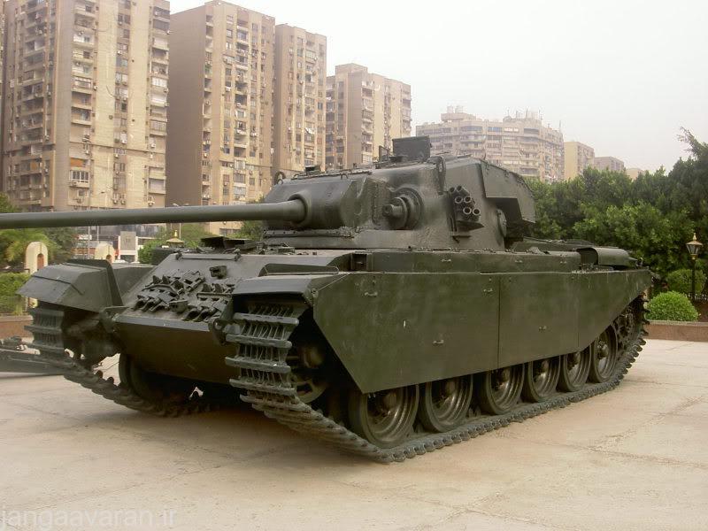 سنتورین مارک3 ارتش مصر . مصر این تانک را با تی 55 و تی 62 جایگزین کرد