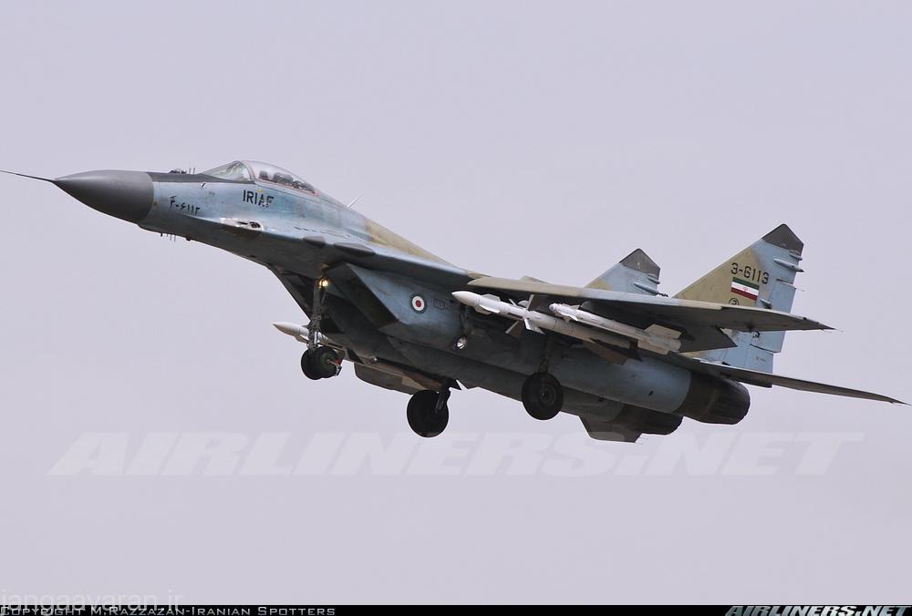 میگ29 ایرانی مسلح به موشک ار 73 و ار 27