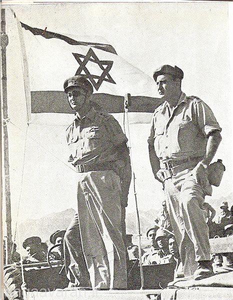 ژنرال موشه دایان و ژنرال اریل شارون