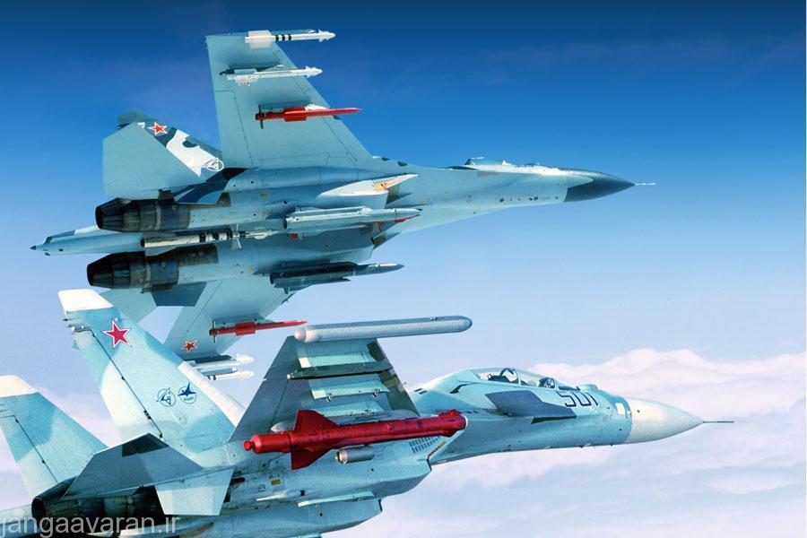 سوخوی30 مسلح به موشک های ار77، خا59 و خا31