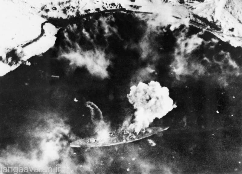 3 اوریل 1944 تریپیتز مورد حملات هوایی بمب افکنها انگلیسی قرار گرفته است