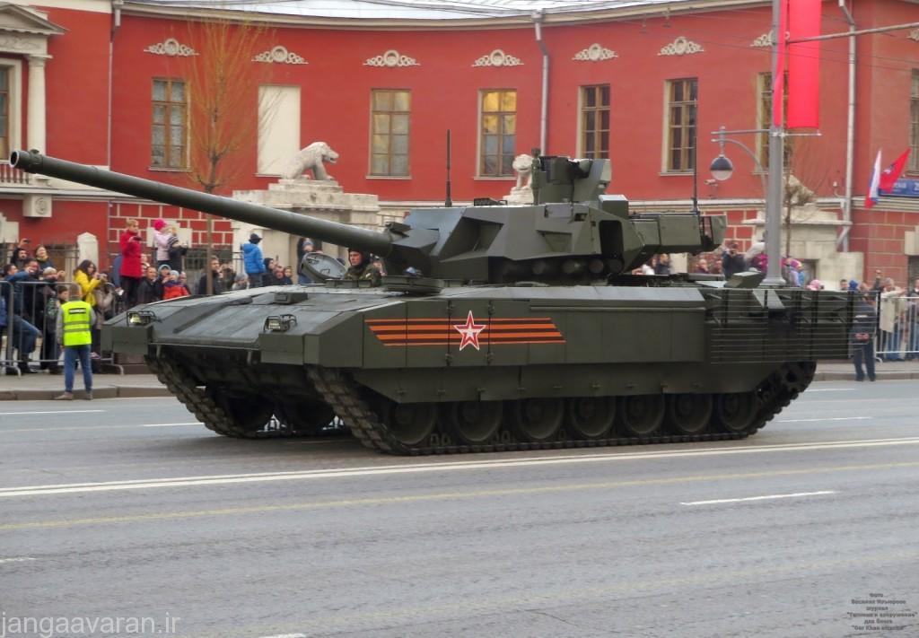 تانک تی 14 آرماتا و خودروی زرهی مسلح  پیاده نظام  تی15 آرماتا