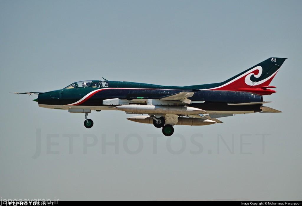 IRAN SU-22UM3K 15-2453 REVOLUTIONARY GUARD TEHERAN MEHRABAD 08-2015