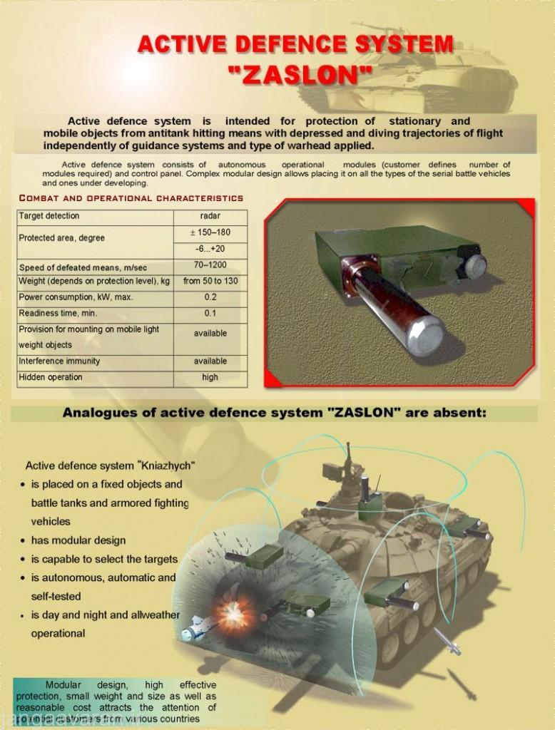 سیستم دفاع فعال زاسلن که میتوان ان را روی اپلوت-ام نصب کرد