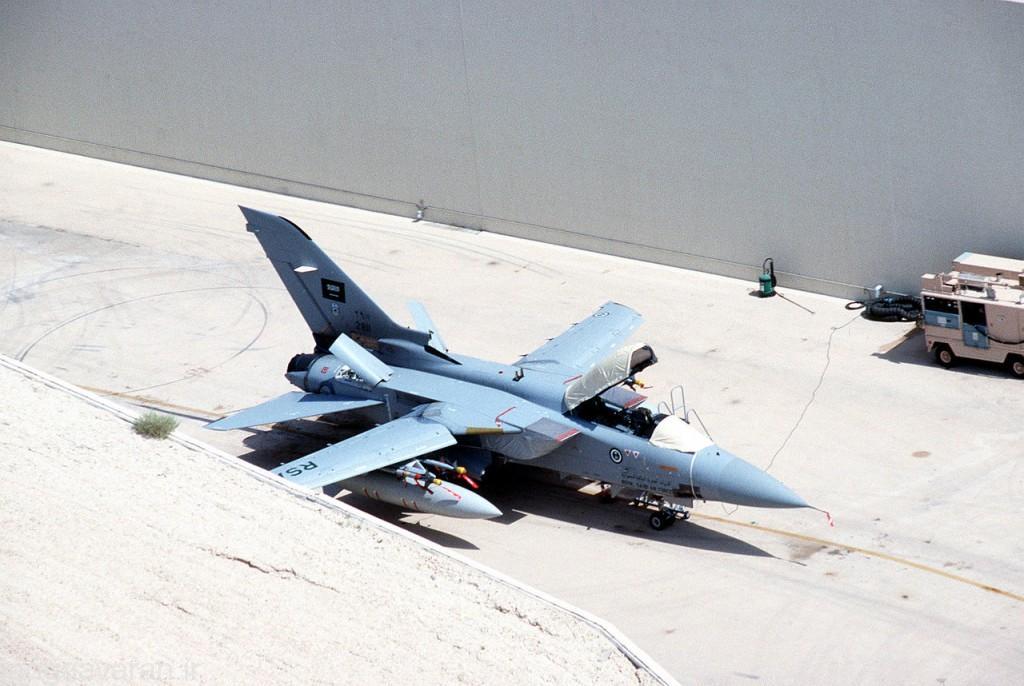 تورنادو اف3 نیروی هوایی عربستان که البته از خدمت خارج شده است